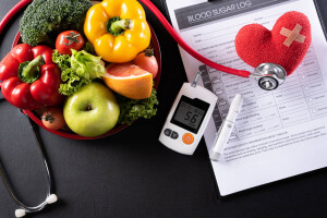 World diabetes day and healthcare concept. Patient's blood sugar